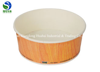Heat Insulated Disposable Paper Soup Bowls For Hot Food , Customized Logo